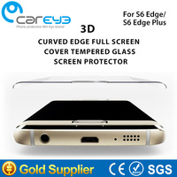 4 color 3D hot bending 100% full cover remove air bubbles tempered glass screen protector for Samsung Galaxy S6 edge & S6 edge +