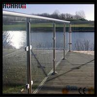 Popular 10mm glass railing steel metal deck railing systems for balcony