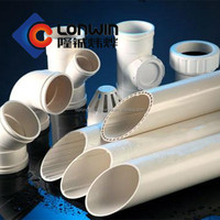 For drainage system, thick wall PVC sewage pipe BS 5255, 4514, 5481, 1401