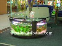 Oval table fish tank aquarium