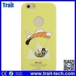 Made In China Parachuting Leather Coated Ultrathin PC Back Cover for iPhone6 Plus 5.5 inch,Design Mobile Phone Back Cover
