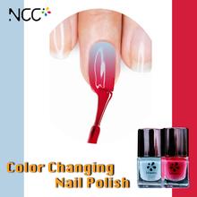 Lady top cheap wholesaler magic Nail polish barrels change color under the sun