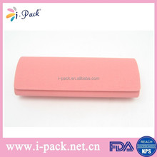 Pink leaher reading glasses case by our factory
