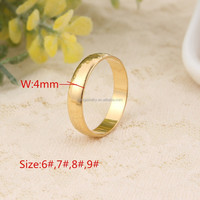 "Gold Rings With ""18K"" Stamp Quality Real Gold Plated Women/Men Jewelry Wholesale Free Shipping Classic Wedding Band Rings"