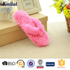 pretty and fuzzy flip flop slippers for lady