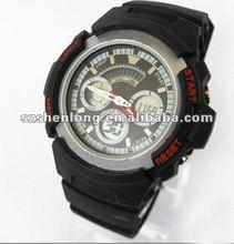 2012 designer digital and quartz dual function silicone watch