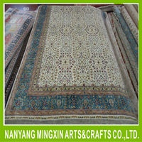 A9 6x9 oriental persian rug vintage handmade hand knotted pure silk floor carpet