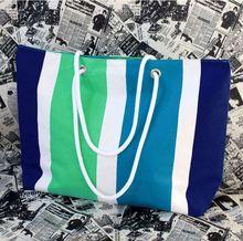 Cucstom design zipper waterproof beach tote bag