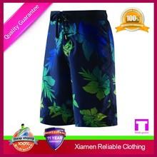 2015 Summer fashion 100%polyester men beach short wholesale