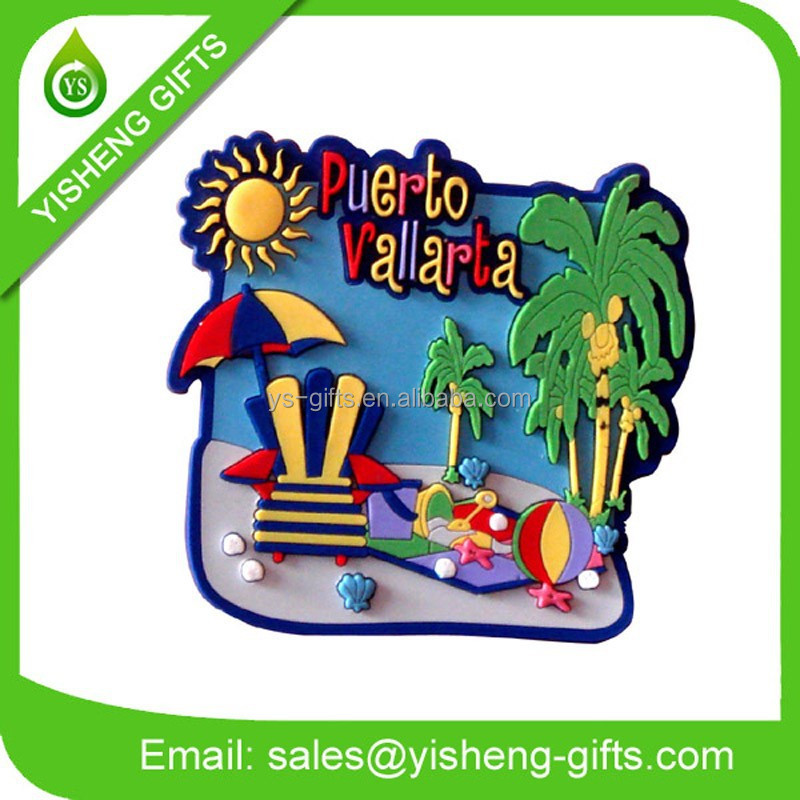 Custom pvc rubber souvenir fridge magnets/3d fridge magnet