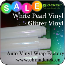 White pearl gloss car wrap vinyl - beautiful!
