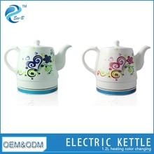 2015 Present Colour Changing 1.2L Mini Electric Ceramic Tea Kettle