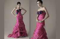 hot pink and black wedding dress flower wedding dress