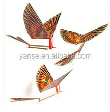 2015 fly bird rubber bands powerd fly bird Assembled in stock wholesale DIY toy