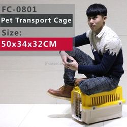 Folding Pet Dog Cat Crate/ Cage /Kennel / Carrier With Plastic , Dark Blue