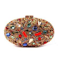 China manufacturer oval crystal bag fashion ladies handbags CB041807