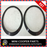 Brand New Carbon Fiber Material UV Protected Real Carbon Style Black Color Head Lamp & Rear Lamp For mini cooper R56 (4pcs/Set)