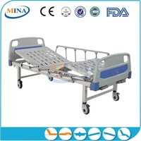 MINA-MB2302 luxurious anti-rust manual hospital bed with commode