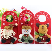 Merry Christmas Three-dimensional Door Trim Santa Claus decoration Hanging Ornaments Christmas Gifts Enfeites De Natal