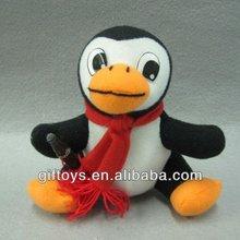 Promotional Custom Plush Penguin with Xmas Scarf