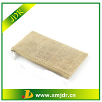 Wholesale Custom Jute Plain Makeup Bag