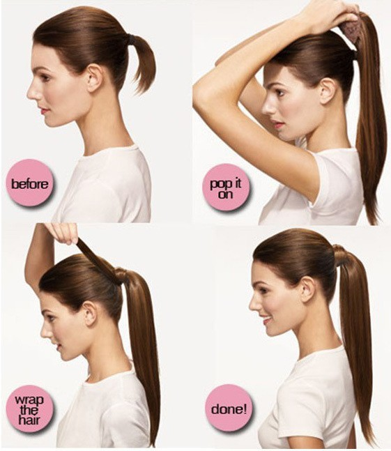 Как сделать хвост из накладных волос