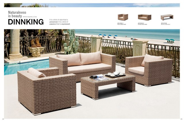 Calamba new hotel Sythetic wicker /rattan lounge /Sofa outdoor Garden Furniture