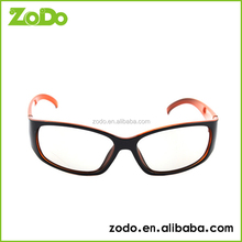Black frame red legs circular polarized 3d glasses with lowest price
