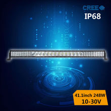 double beam mixed led light bar 248w,driving lamp for trailers truck