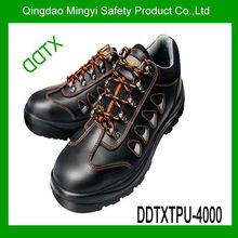 zapatos de seguridad de cuero genuinas de acción de la PU / TPU suela zapatos de seguridad