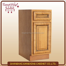 HOT SALE American coffee maple 45 degree kitchen cabinet