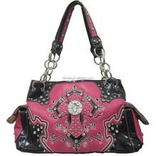 Leather Bag Handbag With Chain Handles