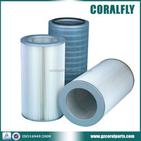 High efficiency dust collect filter pleated cartridge filter with Flame Retardant cellulose material