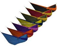 2015 Two Person Portable Parachute Nylon Fabric covered rocking hammock double hammock