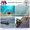 Pp transpirable no- tejido de material para techos de membrana de impermeabilización