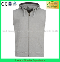 mens sports vest with hoodies, zip up baseketball vest, costom vest for sale(7 Years Alibaba Experience)