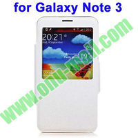 Wallet Leather Call Display Case for Galaxy Note 3