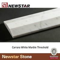 Newstar Carrara white marble door threshold