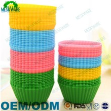 Colorful 12 pack cupcake liners silicone baking cups
