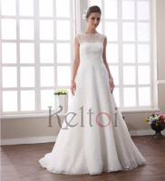 2015 china alibaba wedding dresses for fat women A line lace fabric
