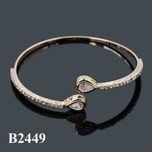 Latest Design Fashion Wholesale 14K Gold Plating High Quality Bracelet With Cubic Zircon