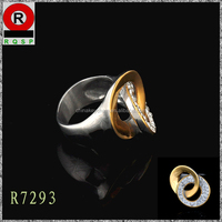 Modern Elegant Hollow Pattern Exaggerated Ring 2014 China new product