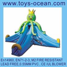 giant octopus inflatable 3 lanes water slide for sale/big outdoor inlatable water slide