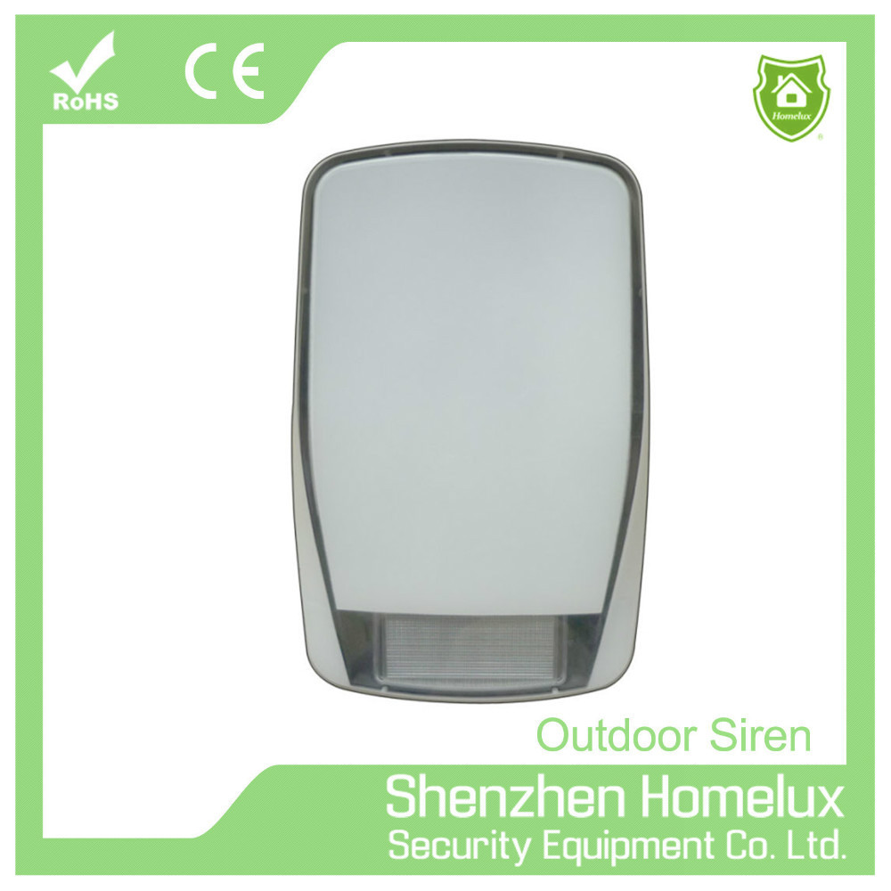 12 V Wireless Wired Outdoor Siren With Strobe Light For Burglar Alarm System 120db Big Battery