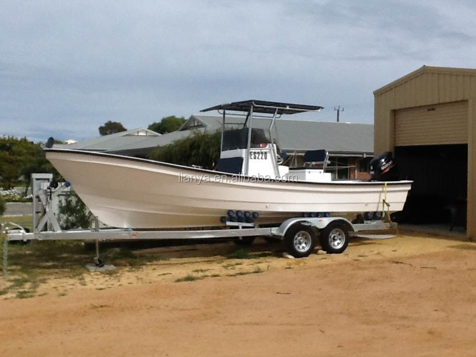 Liya 25ft Cheap Fiberglass Fishing Boat With Outboard