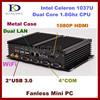Industrial nettop mini pc Celeron 1037U Dual core CPU 2GB RAM 64GB SSD ,2*1000M LAN, 4*COM, 2*USB 3.0, 300M WiFi, HDMI