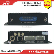 h.264 4ch dvr cctv camera kit with gps 3g functions for car for taxi