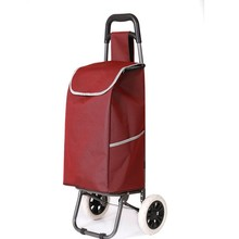 customized shopping trolley bag with 2 wheels