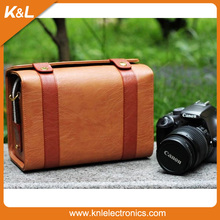 Korean Model SLR Harley style professional leather camera bag/case/pouch