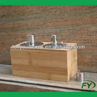 bamboo wood citronella oil candle holder